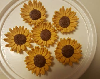Gum Paste Sunflower  Wedding Cakes, Cupcake Toppers, Cake Pops, Shower Cakes, Birthday Cakes