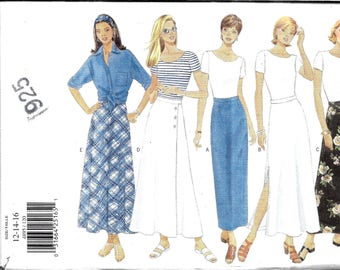 Long Skirt Pattern, Tapered Skirt, Flared Skirt, Ankle Length Skirt, Bias Skirt, Classy Skirt Pattern, Size 12, 14, Waist 26 to 28 Inches