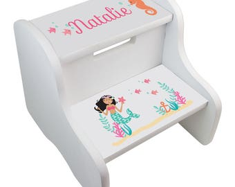 Mermaid Step Stool Etsy