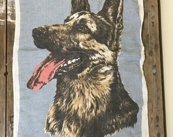 Cotton Tea towel, German Shepard Dog, soft