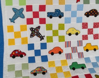 9-Patch/Cars,Trucks, Airplanes