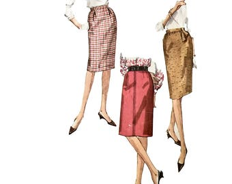 Vintage 1950s Simplicity Pattern Company Sewing Pattern 5121 Misses' Skirt Waist 23 1/2, Hip 32 1/2