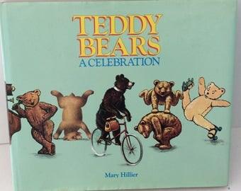 Vintage book - Teddy Bears A Celebration - Mary Hillier - First American Edition - Documentary - Hisory of Teddy Bears - hard  cover