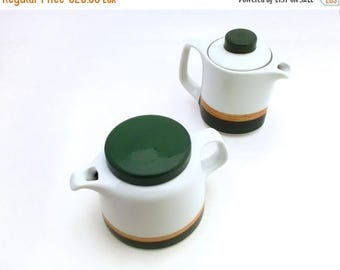 SALE 20% off Vintage Set Porcelain pots, Unique Vintage Kitchen Set, Porcelain Tea Set, Coffee Set