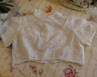 Adorable vintage French little girls blouse, top.