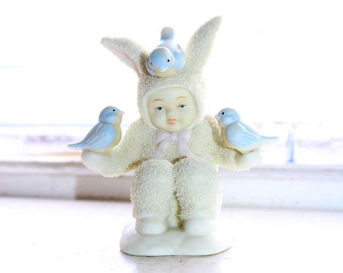 Dept 56 Snowbabies Figurine All The Little Birdies Go Tweet Tweet 1997