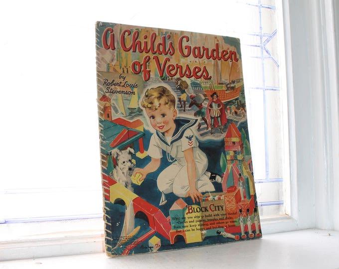 Vintage Children's Book A Child's Garden of Verses 1942