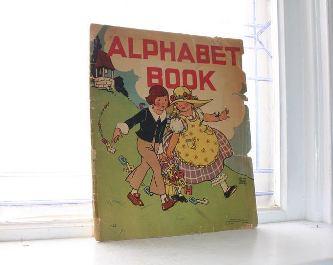Vintage Alphabet Book Children's Book 1934