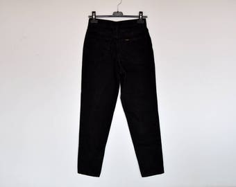 Vintage High Waist Black Lee Jeans Tapered Denim Pants