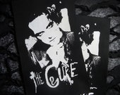 The Cure Robert Smith Goth Punk Patch - Black, White (bauhaus, siouxsie)