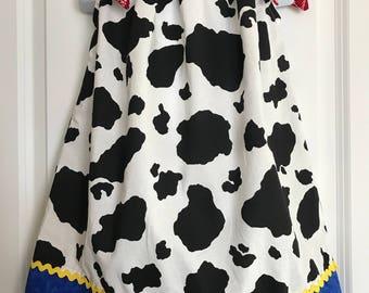 Toy Story Dress / Cow Girl dress / Jesse dress / Cow Girl Pillowcase dress / Toy Story Birthday / Jesse Birthday Dress / Cow Girl Birthday