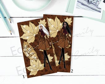 Planner DashCards Fall Fancy | Fall Planner | Personal Size Planner Dashboard | Planner Accessories | Planner Dividers | K026 Dash