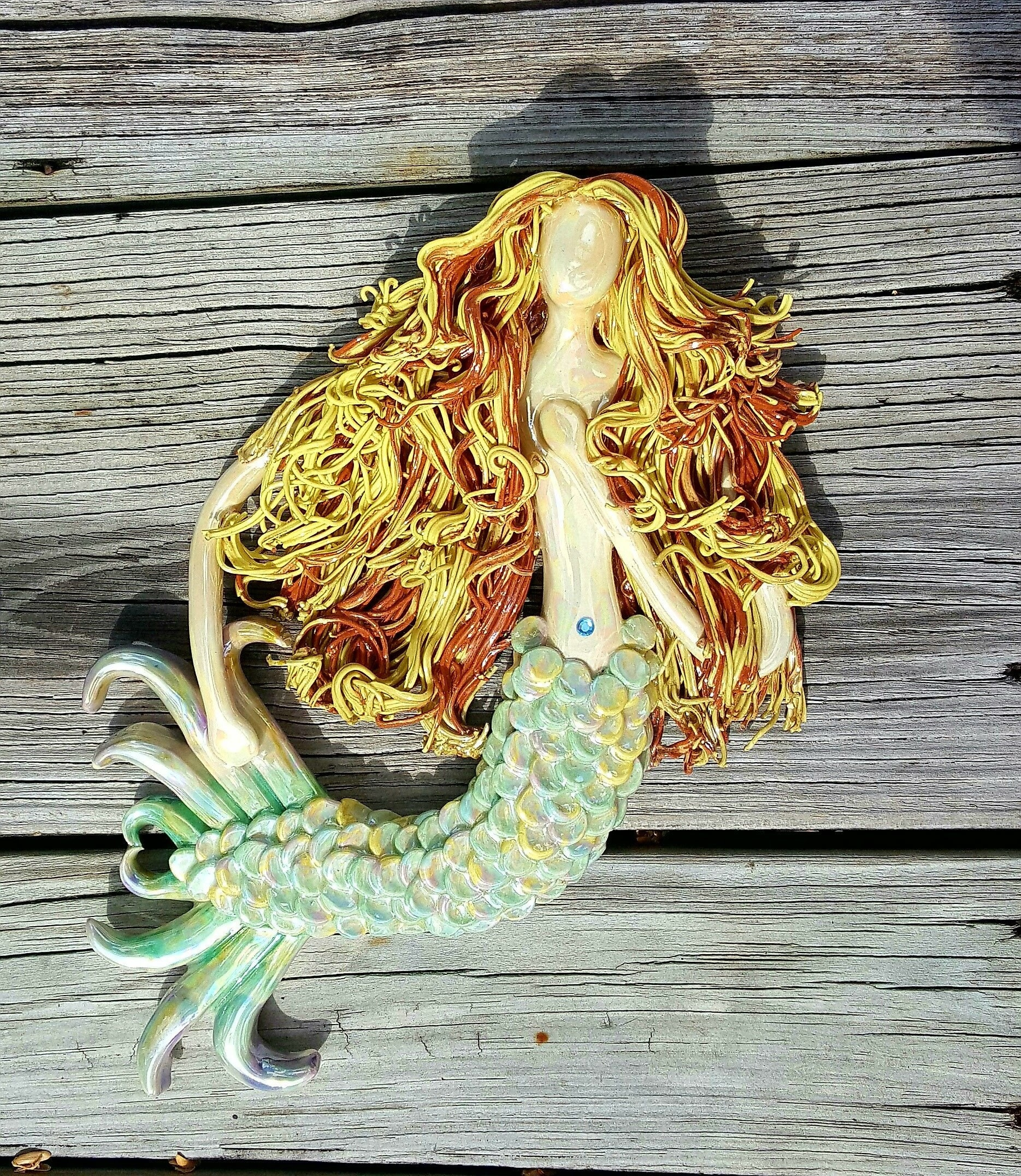 Pretty Wooden Mermaid Wall Art Gallery - The Wall Art Decorations ...