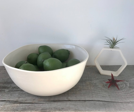 Large Square Top Porcelain Mixing Bowl