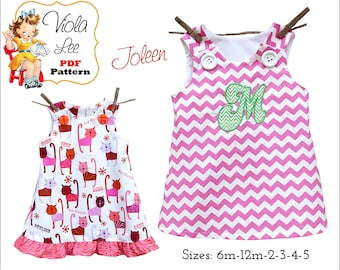 Joleen, Aline Jumper pdf Pattern, Girl's Dress Patterns, pdf Dress Pattern, A line Dress Pattern, Toddler Dress Pattern, Baby Dress Pattern