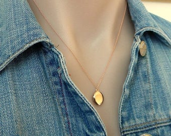 SALE Rose Gold Initial Oval Personalized Locket
