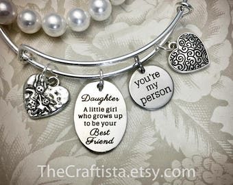 DBF, Daughter Bangle, Daughter Gifts, Daughter Jewelry, Gifts for Daughters, Daughter Charms, Gifts for a Daughter, Daughter Bracelets, Gift