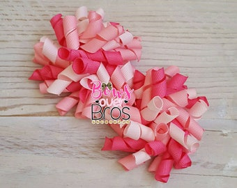 Pretty in Pink Korker Bow Set - Korkers - Piggy Clip Set