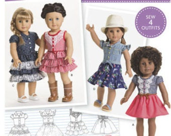 Simplicity 8359--18 Inch Doll Clothing Pattern --New Uncut-