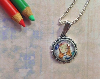 A Thoughtful Angel Necklace, Necklaces, for women, Fashion necklaces, Wearable Art, Pendant Necklace, Art Necklace, Gift For Women, Whimsy