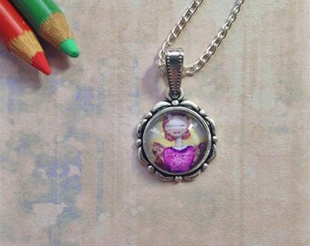 Glowing Angel Necklace, Necklaces, for women, Fashion necklaces, Wearable Art, Pendant Necklace, Art Necklace, Gift For Women, Whimsy