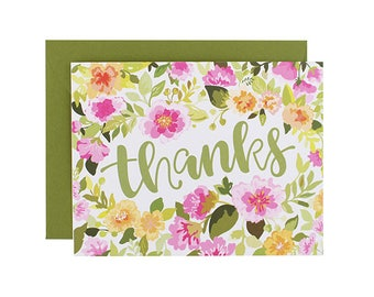 Thanks Floral Thank You Card