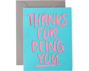 Thanks For Being You Laser Cut Card