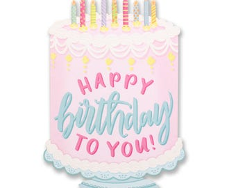Happy Birthday To You! Birthday Cake Die Cut Card