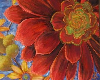 Succulent flowers, succulent prints,flower prints, Native flowers, Aeonium,   painting flower, flower painting, floral decor