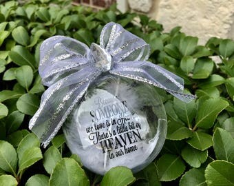 Because Someone We Love is in Heaven Christmas Ornament *** Personalization available only for a limited time