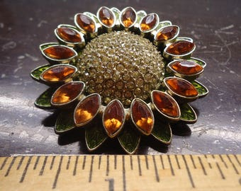 Vintage napier sunflower brooch
