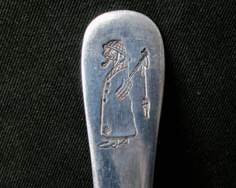 No. 9 Fishermen's Grotto San Francisco Vintage Teaspoon Victor Silver Co. international Silver