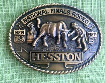 1981 National Finals Rodeo Belt Buckle, Hesston, Seventh Edition