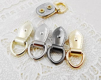 10Pcs 9mm Inner Size D-ring with Screw - For Craft Bag Purse,  Silver Gold Black Colors for choice-- T413