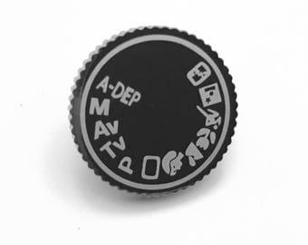 Camera Dial Tie Pin, Camera Dial Lapel Pin, Camera Dial Tie Tack, 35 MM Camera Pin, 35 MM Camera Tie Tack