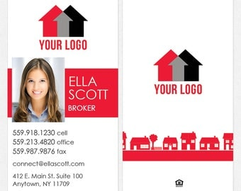 Independent real estate business cards - thick, color both sides - FREE UPS ground shipping