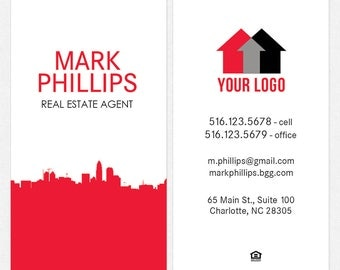 no photo independent real estate professional business cards - thick, color both sides - FREE UPS ground shipping