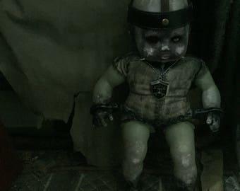 Handmade artdoll horror zombie creepy ooak