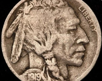 1919 D Buffalo Nickel