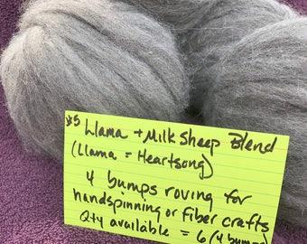 4 Llama Roving Bumps (from Heartsong) + Milk Sheep Blend