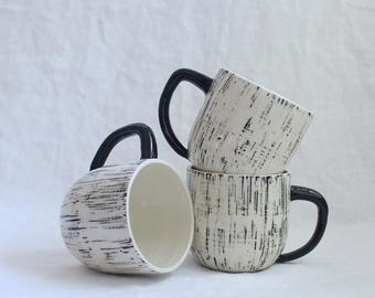 Mist Mug Black and White Mug Made to Order