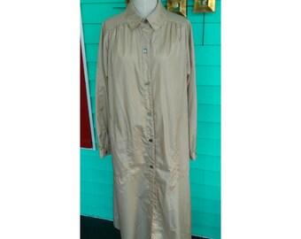 Vintage Bonnie Cashin Light Rain Trench Over Coat 1970s