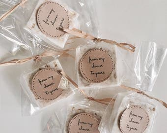 RUSTIC WEDDING FAVORS: natural, rustic soap favors for wedding favors