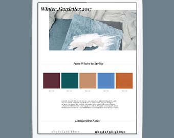 Winter Newsletter Email Template, Customizable