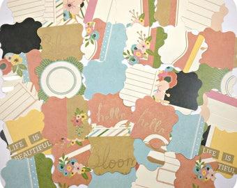 Boho Bracket Die Cuts (40) Assorted Labels-Scrapbook Boho Embellishments-Bulk Labels-Blank Tags-Bracket Punch Outs-Journal Cards