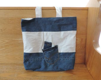 Tote bag upcycled jeans