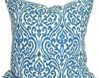 Pillow, Throw Pillow, Pillow Cover, Cushion, Decorative Pillow, Indigo Blue Pillows, Waverly Pillow.Blue Toss. All Sizes, Cushion,cm