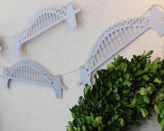 Sydney Harbour Bridge Paper Garland - 6 Feet - Australia Garland - Single layer
