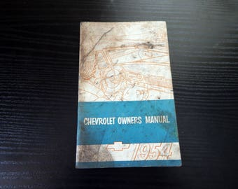 1954 Chevrolet Owners Manual Original Booklet