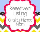 Reserved Listing for Ashely H.